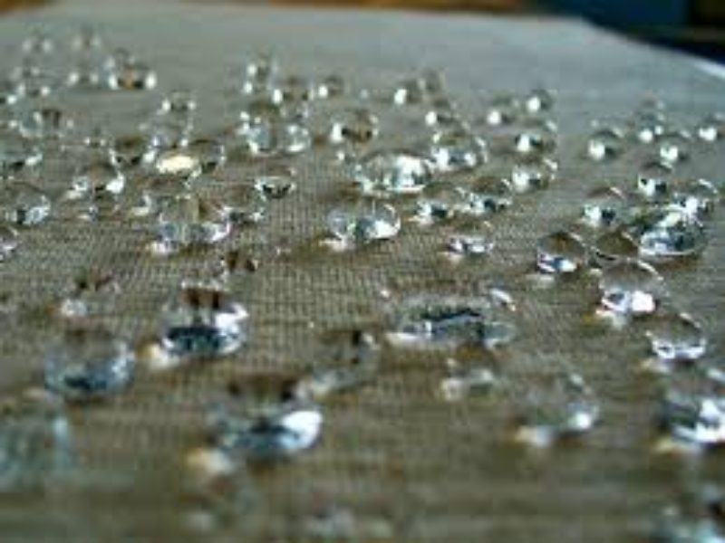 beading water on canvas